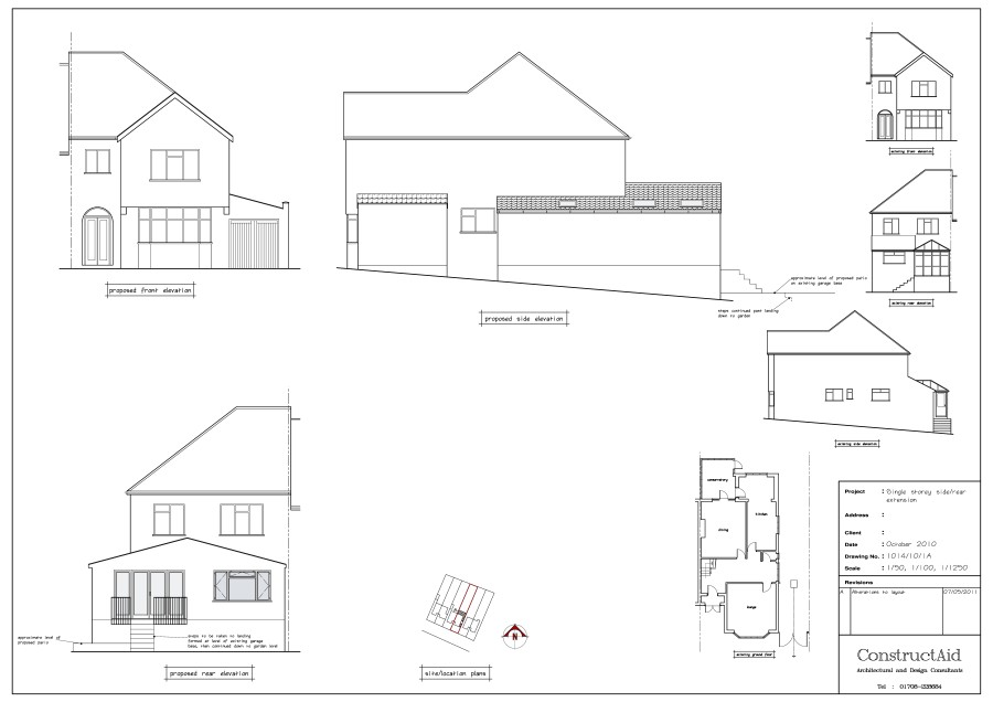 Single Storey Side/rear extension designed by ConstructAid Architectural Consultants